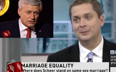 VIDEO SHOCK: STEPHEN HARPER APPEARS TO CONDEMN SCHEER, MORALLY SUPPORT PPC